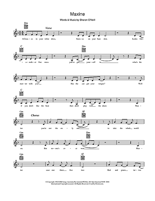 Maxine (Lead Sheet / Fake Book)