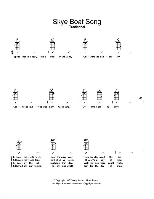 The Skye Boat Song Sheet Music
