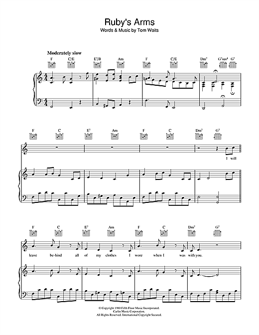 Ruby's Arms Sheet Music