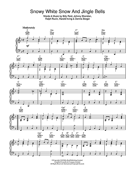 Snowy White Snow And Jingle Bells Sheet Music