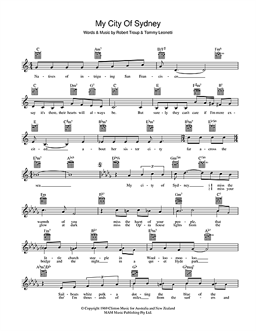 My City Of Sydney Sheet Music