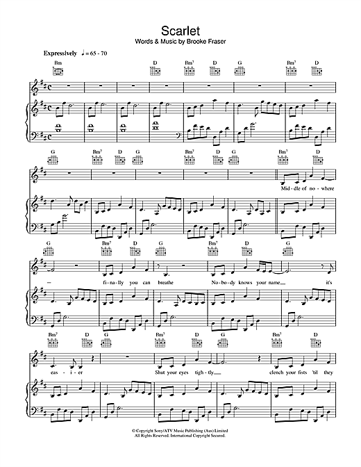 Scarlet Sheet Music