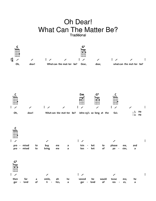 Oh Dear What Can The Matter Be? Sheet Music