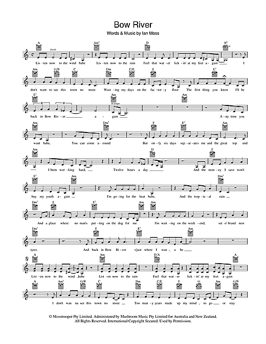 Bow River Sheet Music