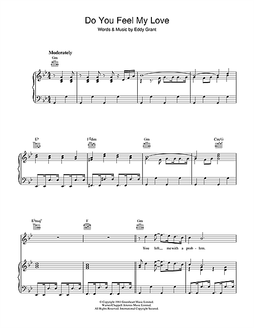 Do You Feel My Love Sheet Music