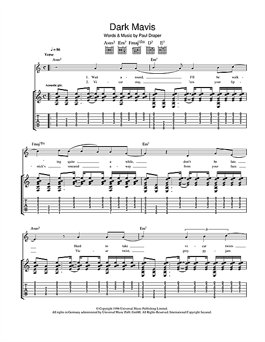 Dark Mavis Sheet Music