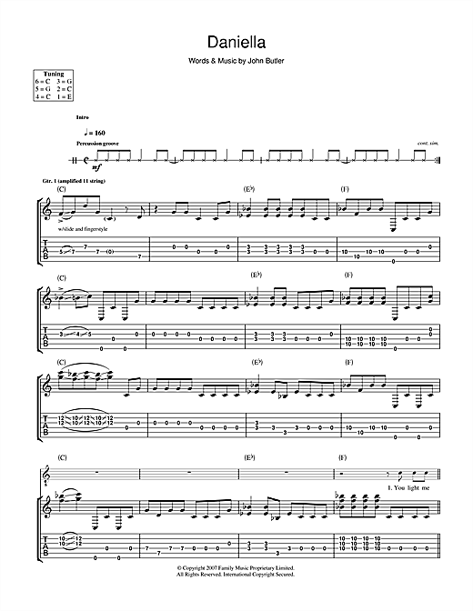 Daniella Sheet Music