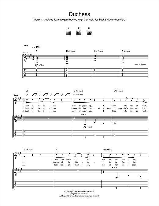 Duchess Sheet Music