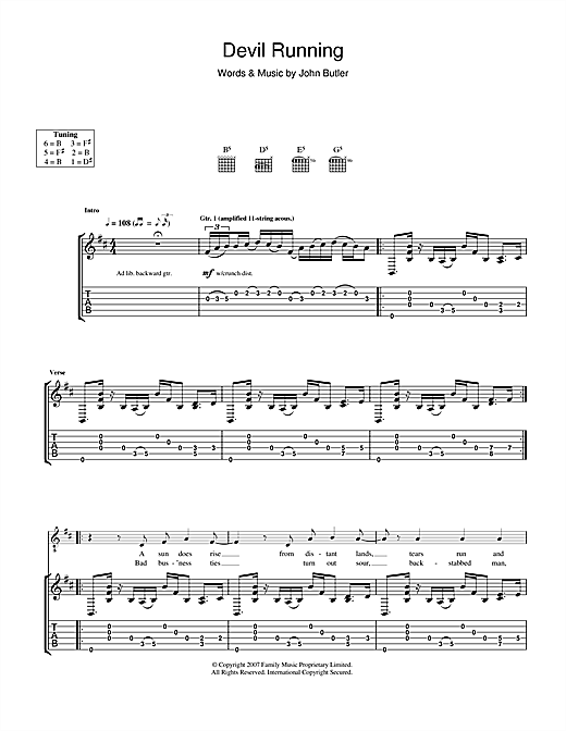 Devil Running Sheet Music