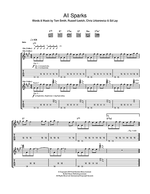 All Sparks Sheet Music