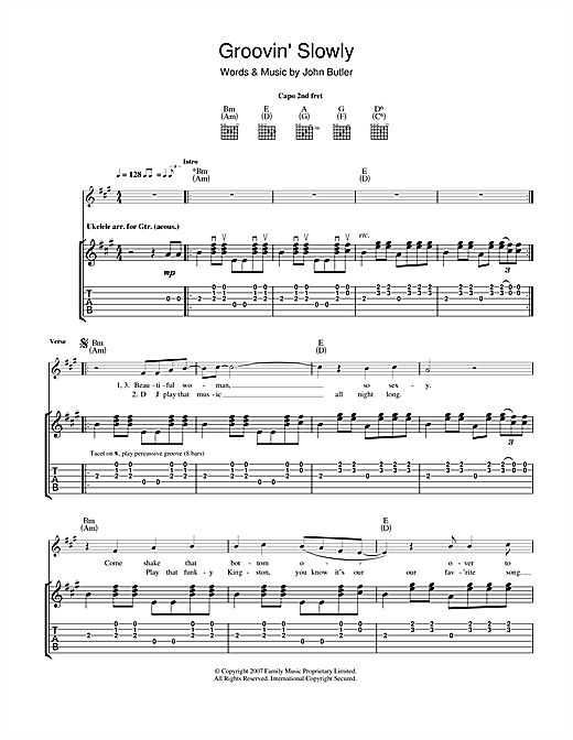 Groovin' Slowly Sheet Music