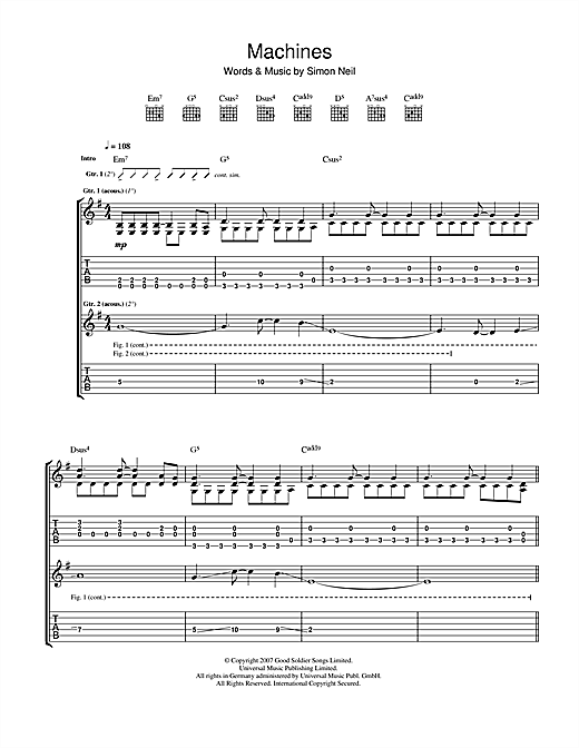 Machines Sheet Music