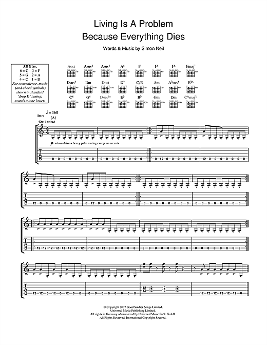 Living Is A Problem Because Everything Dies Sheet Music