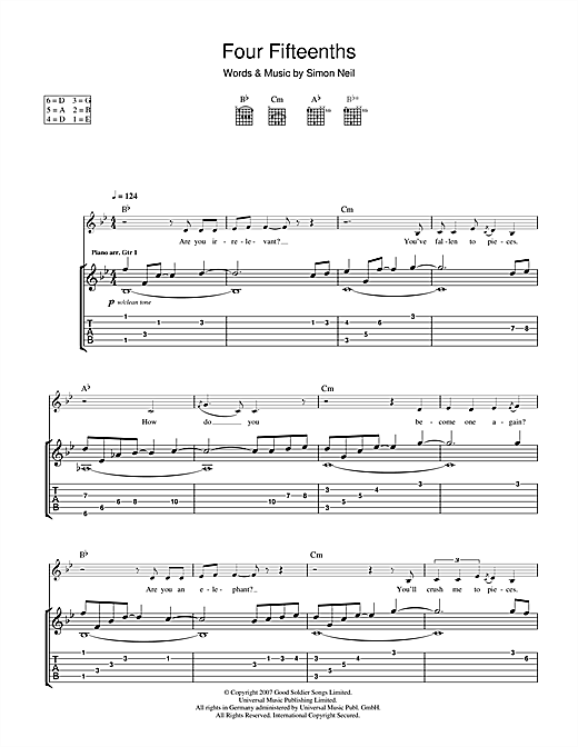 4/15ths (Four Fifteenths) Sheet Music