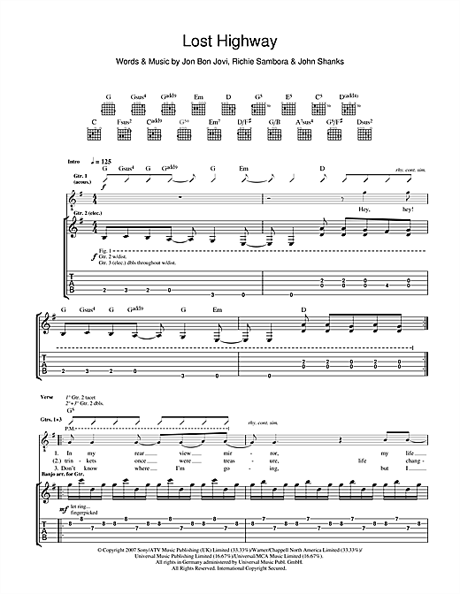 Lost Highway Sheet Music
