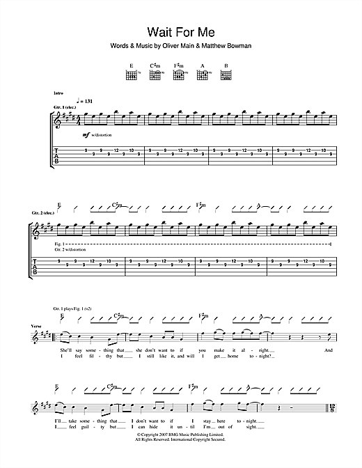 Wait For Me Sheet Music