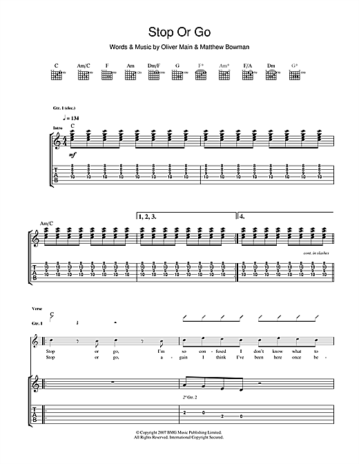 Stop Or Go Sheet Music