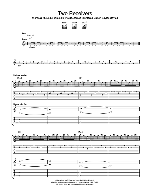 Two Receivers Sheet Music