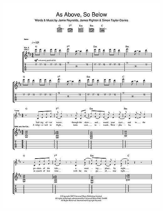 As Above So Below Sheet Music
