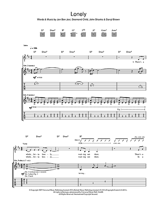 Lonely Sheet Music