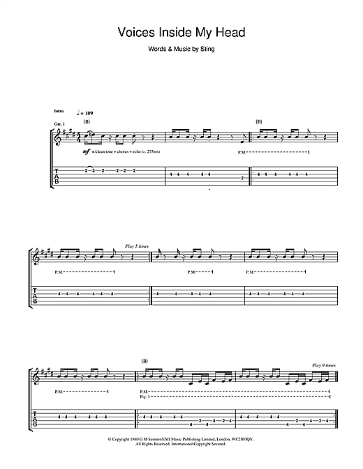 Voices Inside My Head Sheet Music