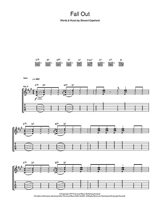 Fall Out Sheet Music