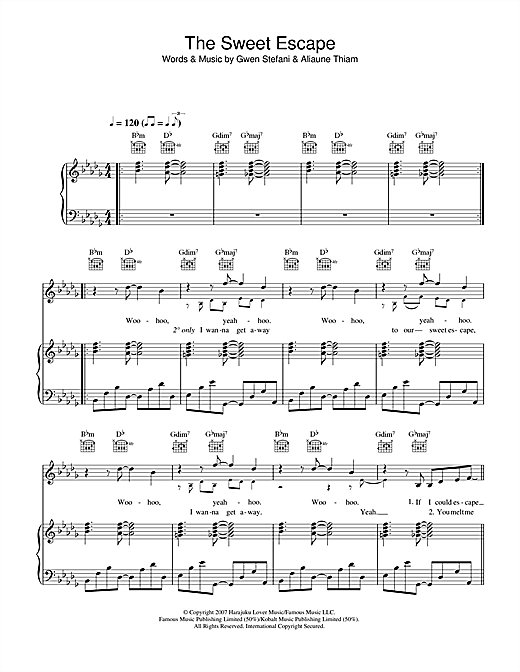The Sweet Escape (feat. Akon) Sheet Music