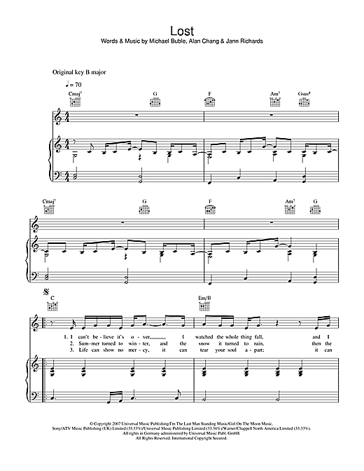 Lost Sheet Music