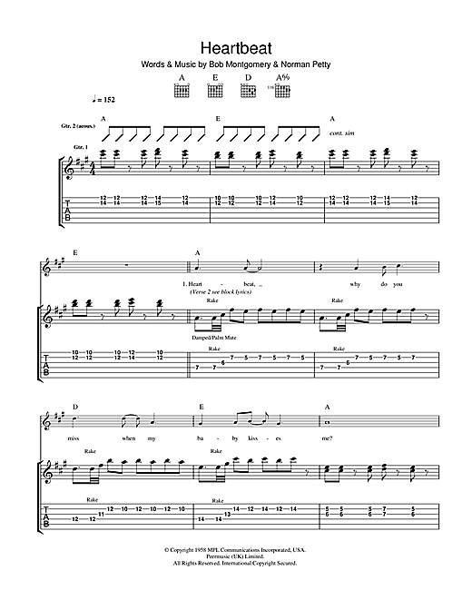 Heartbeat Sheet Music