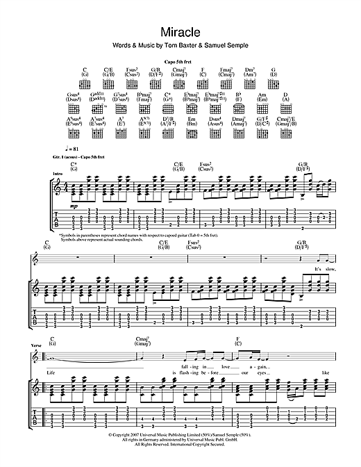 Miracle Sheet Music