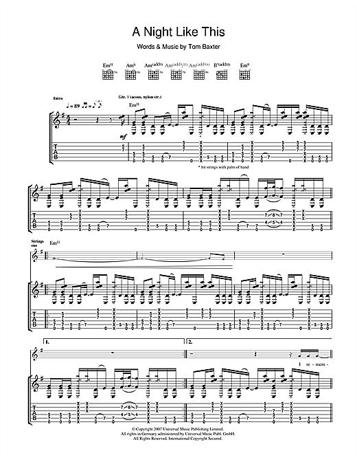 A Night Like This Sheet Music