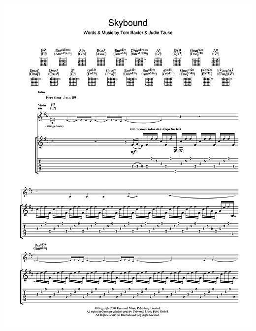 Skybound Sheet Music