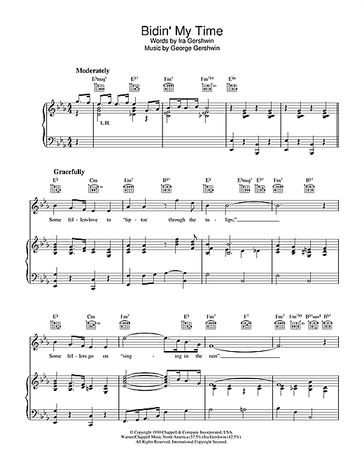 Bidin' My Time (Piano, Vocal & Guitar (Right-Hand Melody))
