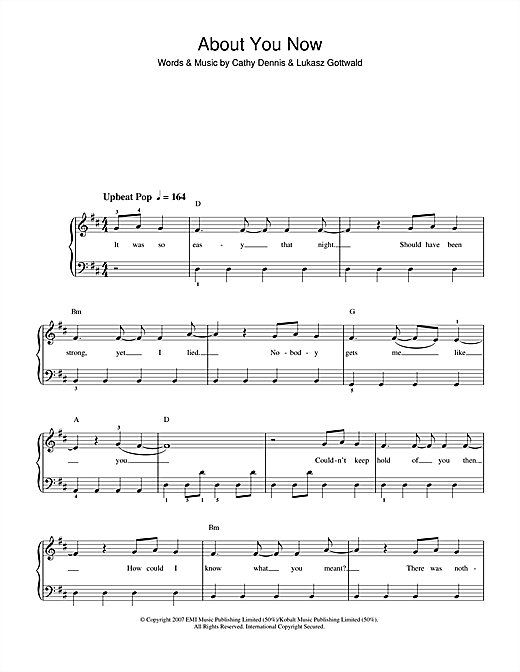 About You Now Sheet Music