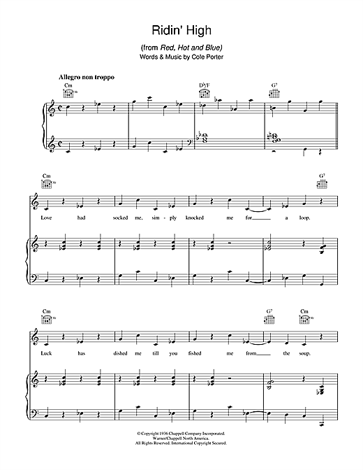 Ridin' High Sheet Music