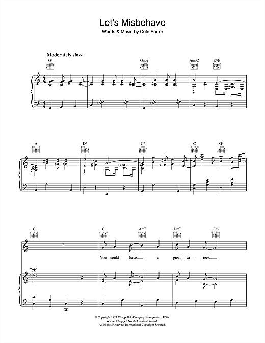Let's Misbehave Sheet Music
