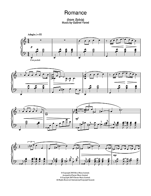 Romance (from Sylvia) Sheet Music