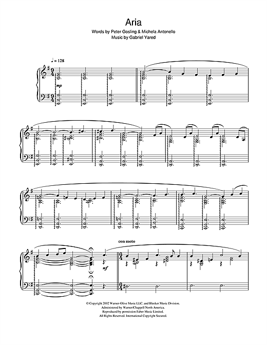 Possesso (from Possession) Sheet Music