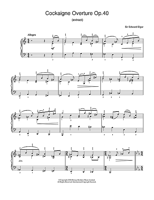 Cockaigne Overture Op.40 Sheet Music