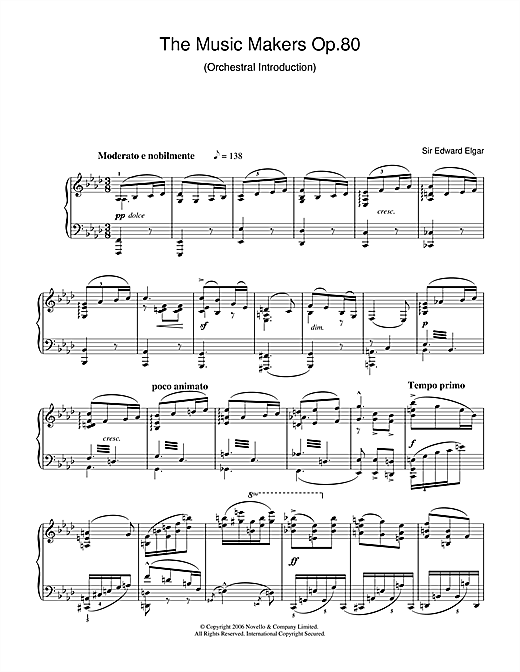The Music Makers Op. 80 Sheet Music