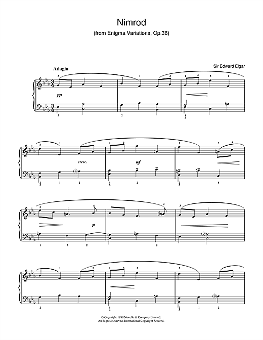 Nimrod (from The Enigma Variations Op.36) Sheet Music