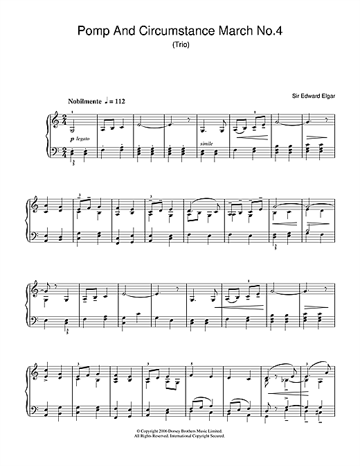 Pomp And Circumstance March No.4 Sheet Music