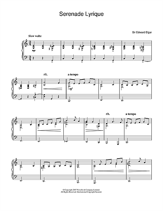Serenade Lyrique Sheet Music