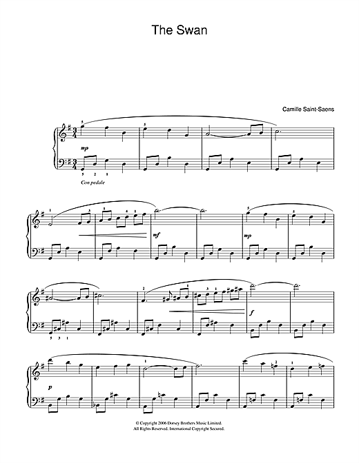 The Swan Sheet Music