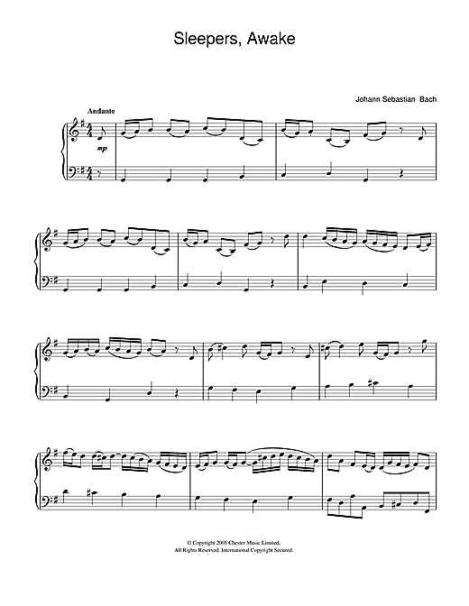 Sleepers, Awake (Wachet Auf) Sheet Music
