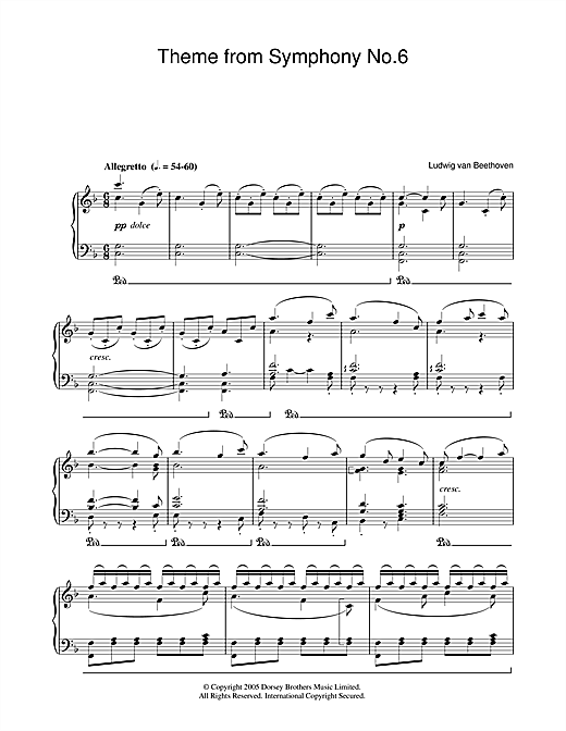 Symphony No.6 In F Major (Pastoral), 5th Movement Sheet Music
