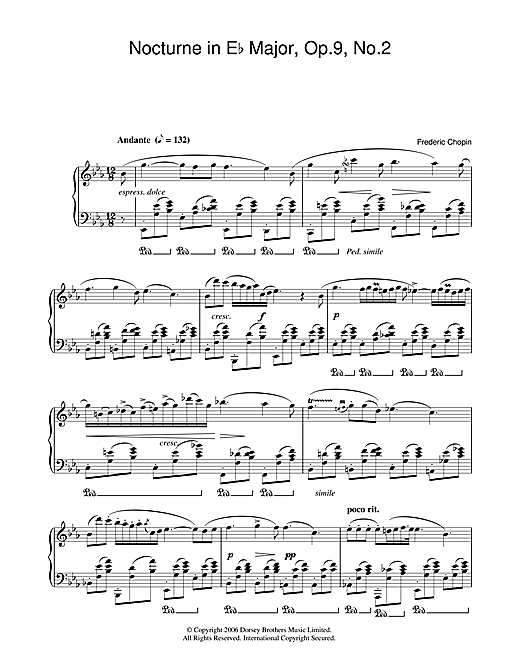 Nocturne in E Flat Major, Op.9, No.2 Sheet Music