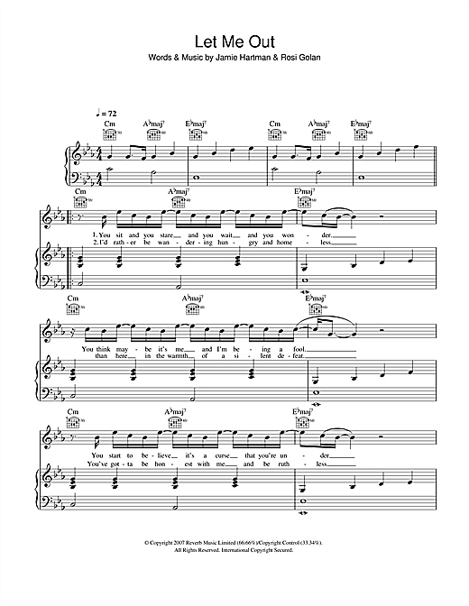 Let Me Out Sheet Music