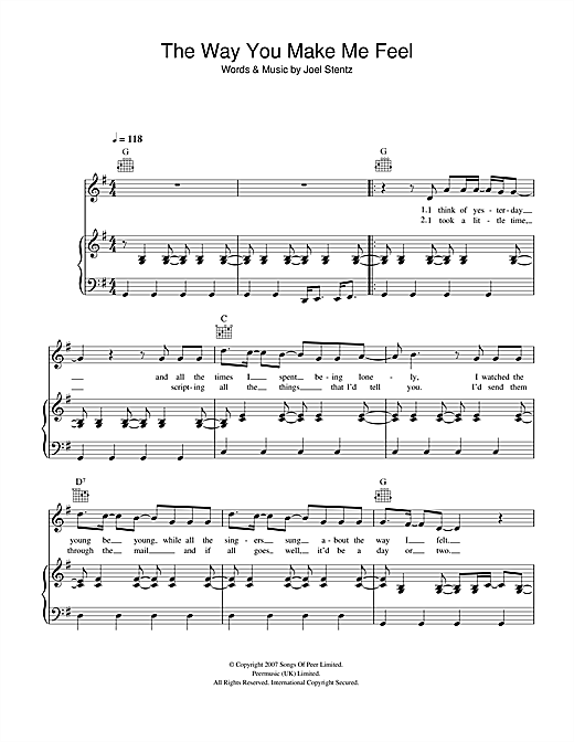 The Way You Make Me Feel Sheet Music
