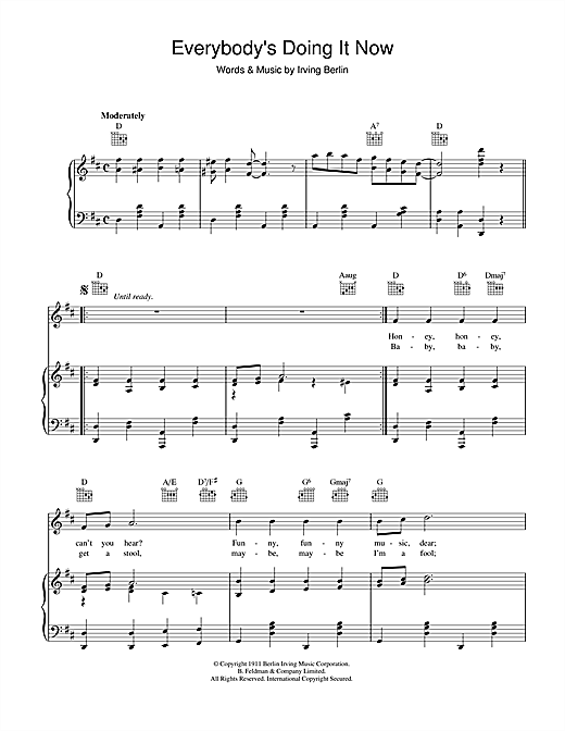 Everybody's Doing It (Now) Sheet Music